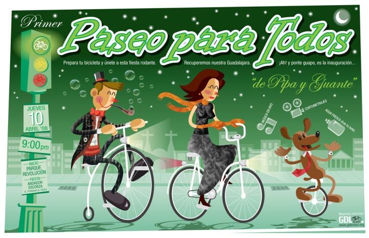 Invitacion Paseo para Todos 1, diseño por Juan Garcia