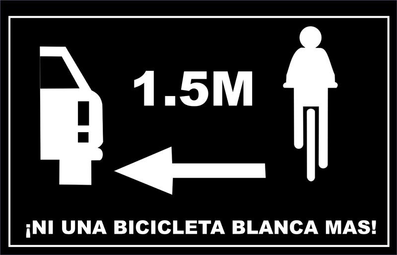 BicicletaBlancaPlaca