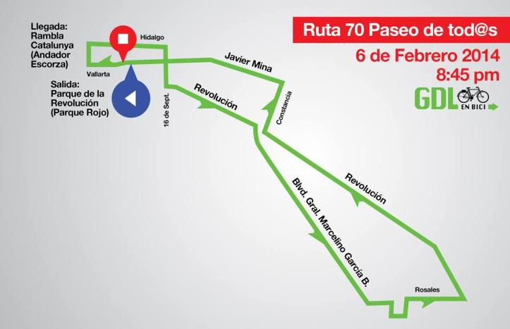 Ruta Paseo 70